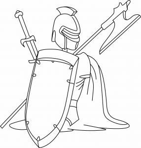 Chevalerie 01 - motif à imprimer