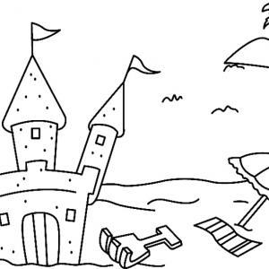 Château de sable 01 - motif à imprimer