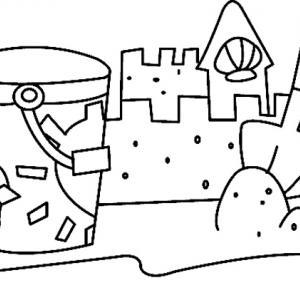 Château de sable 02 - motif à imprimer