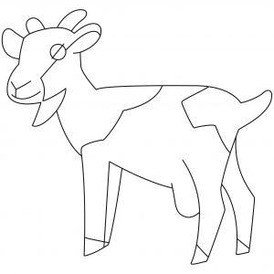Chèvre 01 - motif à imprimer