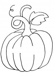 Citrouille 01 - motif à imprimer