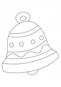 Le dessin de cette cloche est un joli coloriage de Pâques. Un dessin aux traits épais, adaptés aux plus petits et facilement utilisable comme motif à reporter sur tous vos supports. Retrouvez des centaines d'autres coloriages de cloches à imprimer gratuit