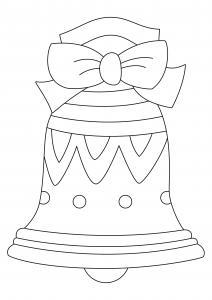 Le dessin de cette cloche de Pâques est un joli coloriages de paques. Un dessin aux traits épais, adaptés aux plus petits et facilement utilisable comme motif à reporter sur tous vos supports. Retrouvez des centaines d'autres coloriages de cloches à impri
