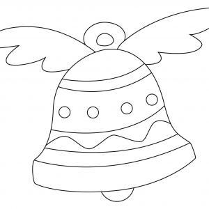 Un coloriage paques représentant une cloche avec des ailes. Un motif à décorer à télécharger et à imprimer pour votre enfant. Une fois imprimé, ce motif peut se reporter sur du bois, du verre, de la terre cuite, du carton, du papier ou même du textile. Un