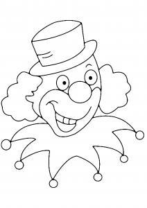 Clown 05 - motif à imprimer