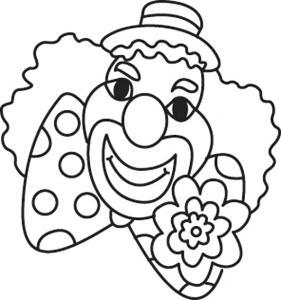 Clown 08 - motif à imprimer