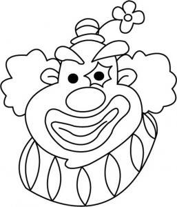 Clown 09 - motif à imprimer