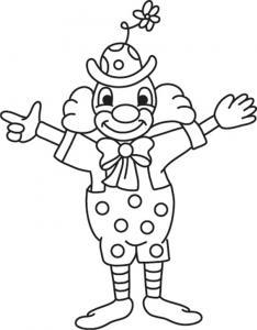 Clown 11 - motif à imprimer