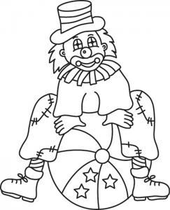 Clown 12 - motif à imprimer