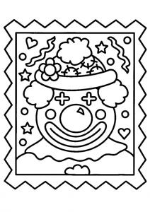 Clown 17 - motif à imprimer
