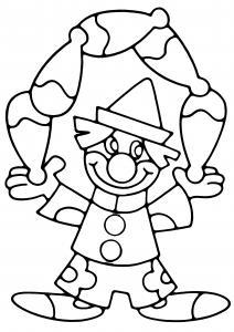 Clown 19 - motif à imprimer