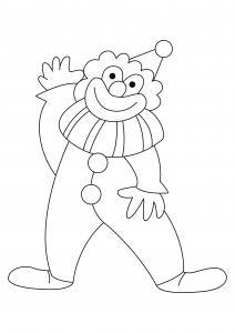 Clown 23 - motif à imprimer