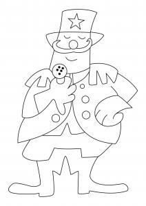 Clown 25 - motif à imprimer