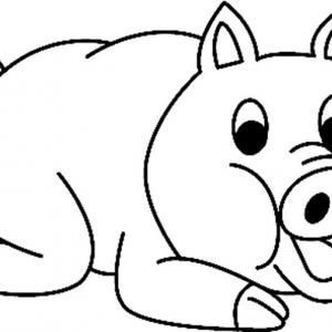 Cochon 01 - motif à imprimer