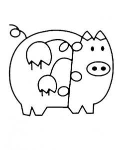 Cochon 05 - motif à imprimer