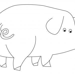 Cochon 08 - motif à imprimer