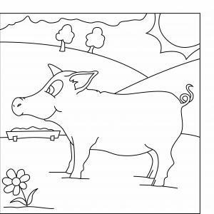 Cochon 09 - motif à imprimer