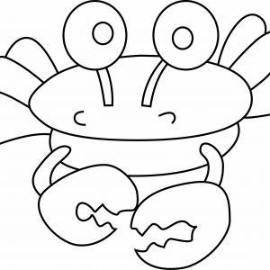Crabe 01 - motif à imprimer