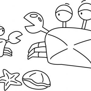 Crabe 03 - motif à imprimer