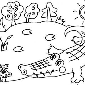 Crocodile 01 - motif à imprimer