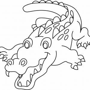 Crocodile 03 - motif à imprimer