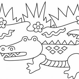 Crocodile 05 - motif à imprimer