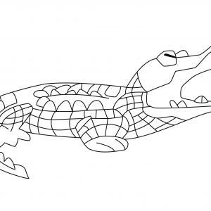 Crocodile 06 - motif à imprimer