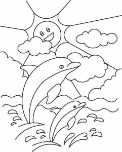 Dauphin 04 - motif à imprimer