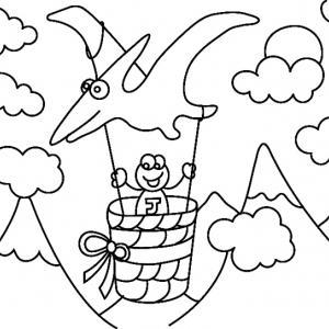Dinosaure 07 - motif à imprimer