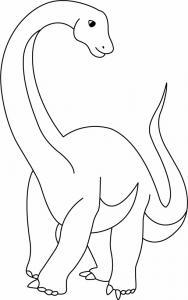 Diplodocus - motif à imprimer
