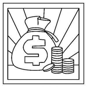 Dollars 01 - motif à imprimer