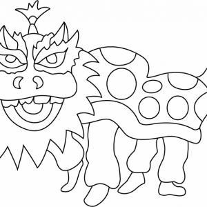 Dragon chinois - motif à imprimer
