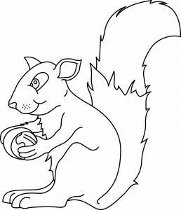 Ecureuil 03 - motif à imprimer