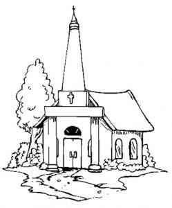 Eglise - motif à imprimer
