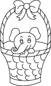 Eléphant 08 - motif à imprimer