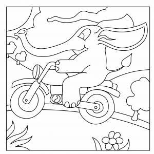 Eléphant 11 - motif à imprimer