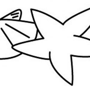 Etoile de mer 03 - motif à imprimer