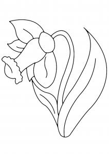 Fleur 004 - motif à imprimer