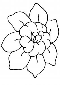 Fleur 006 - motif à imprimer