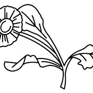 Fleur 008 - motif à imprimer