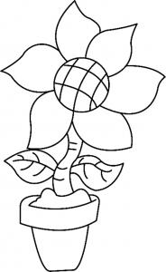 Fleur 011 - motif à imprimer