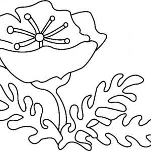 Fleur 012 - motif à imprimer