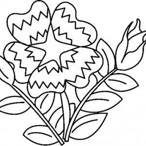 Fleur 013 - motif à imprimer