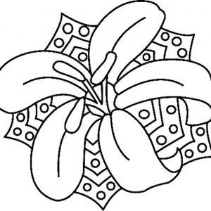 Fleur 015 - motif à imprimer