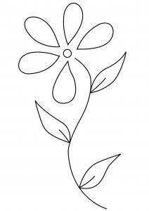 Fleur 017 - motif à imprimer