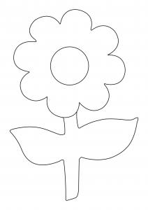 Fleur 035 - motif à imprimer
