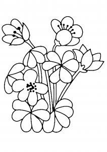 Fleurs 002 - motif à imprimer