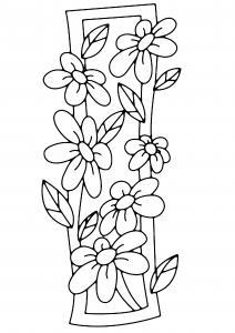 Fleurs 005 - motif à imprimer
