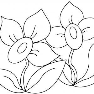 Fleurs 008 - motif à imprimer