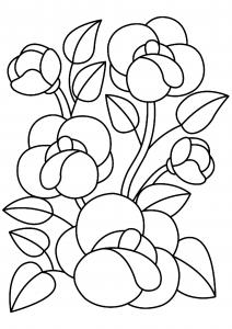 Fleurs 010 - motif à imprimer